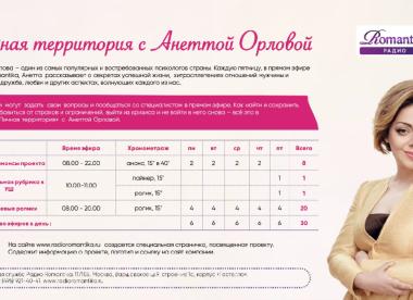 Личная территория с Анеттой Орловой